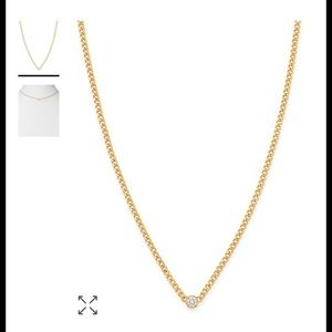 Zoe Chicco 14k Yellow Gold Diamond Curb Chain
